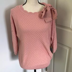 NWT! Cece bouquet pink thin knit sweater M